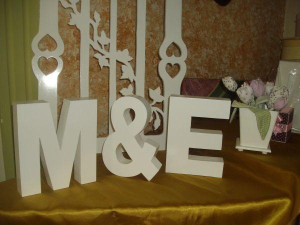 Letras decorativas para casamento loja de dalcilene - Letras decorativas pared ...